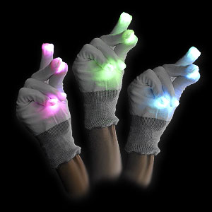 579-071 LED HANDSCHUH FLASHY FINGERS