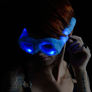 0042-908 LED Pluesch Brille blau